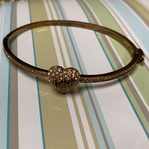 Juicy Couture Rose Gold Hinge Bangle Bracelet